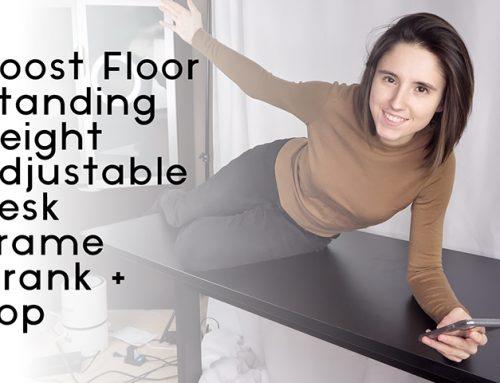 Boost Floor Standing Height Adjustable Desk Frame Amazon Review
